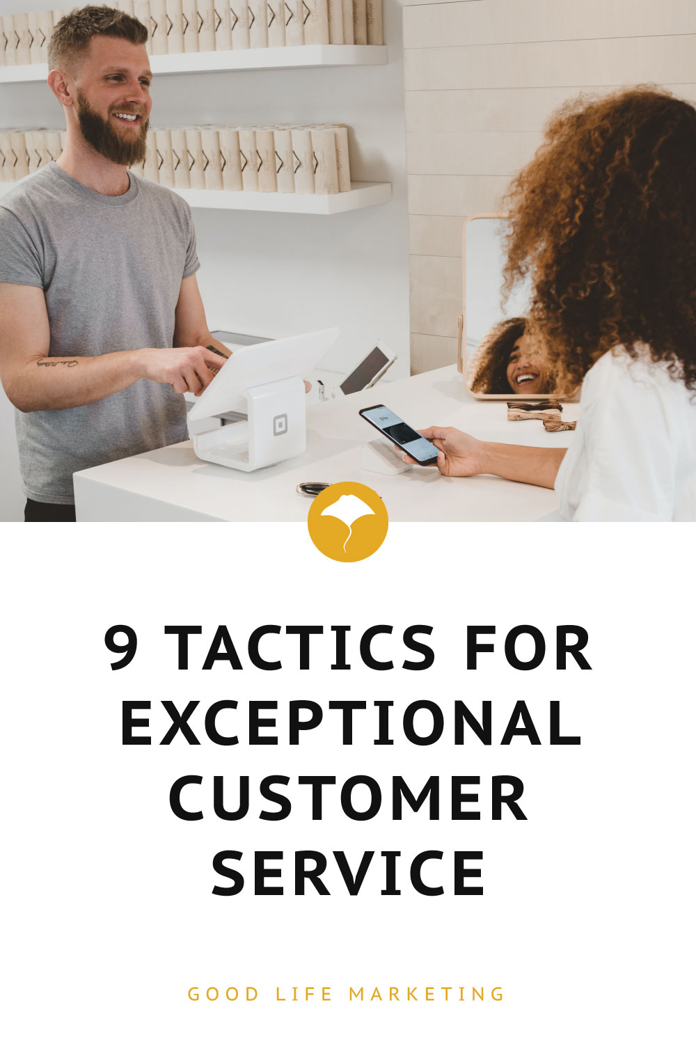 exceptional customer service pin