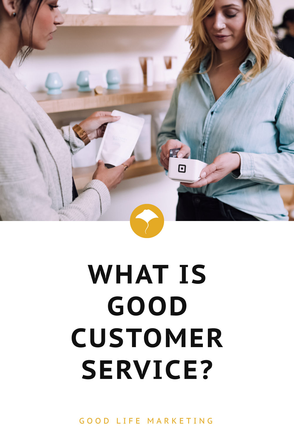 what is good customer service pin