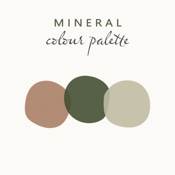 Minimalist brand colour palette idea